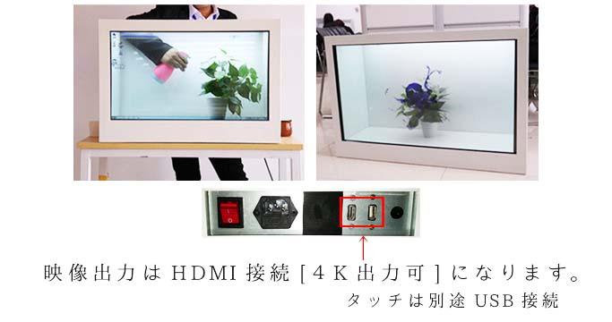 透明液晶ディスプレイの使用例